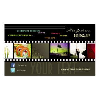 Schriftart der Portfoliogeschäftskarten-Fotos Visitenkarten