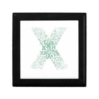 Schriftart-Mode X Geschenkbox