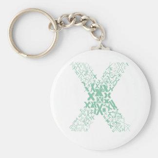 Schriftart-Mode X Schlüsselanhänger