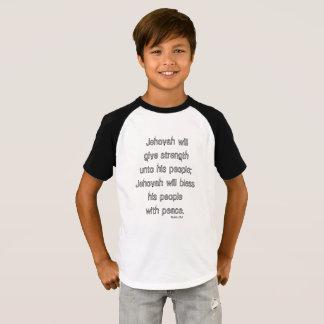 Schrifts-Zitat-T-Stück - segnen Sie seine Leute T-Shirt