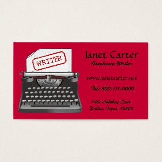 Schriftsteller-Visitenkarten Visitenkarte