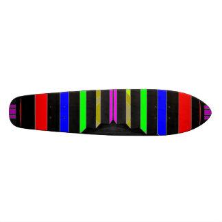 Schritt und SCHRITTE: Bunte Schönheits-Streifen 19,7 Cm Skateboard Deck