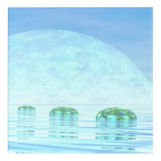 Schritte auf dem Ozean - 3D übertragen Acryl Wandkunst