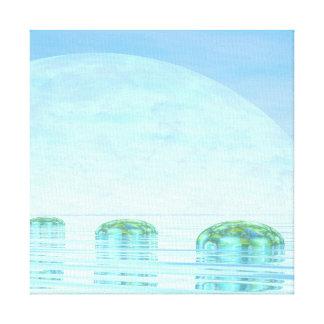 Schritte auf dem Ozean - 3D übertragen Leinwanddruck