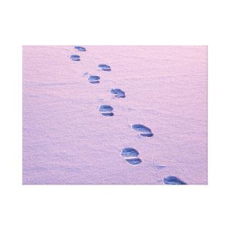 Schritte auf Schnee Leinwanddruck