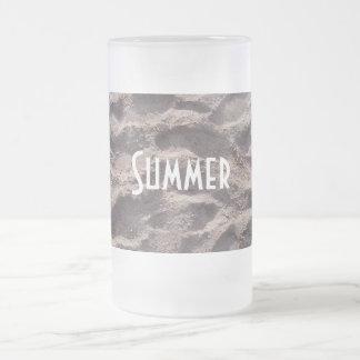 Schritte in den Sand-Strand-Sommerferien Mattglas Bierglas