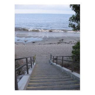 Schritte zum Strand Postkarte