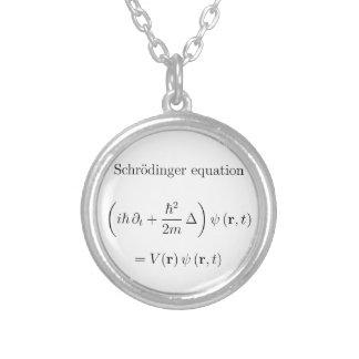 Schrodinger Gleichung mit Namen Halskette Mit Rundem Anhänger