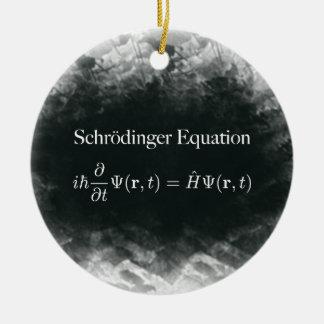 Schrödinger Gleichungs-Mathe u. Quantums-Physik Keramik Ornament