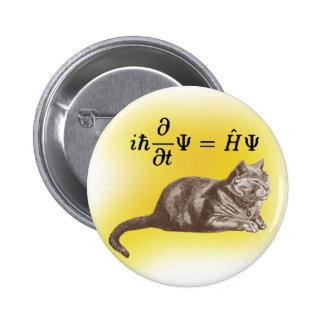 Schrodinger Katze Runder Button 5,7 Cm