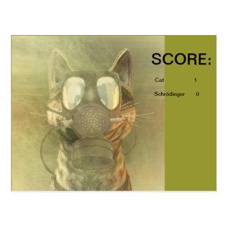 Schrödinger unterschätzt die Katzenpostkarte Postkarte