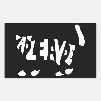 Schrödingers Katze Rechteckige Sticker