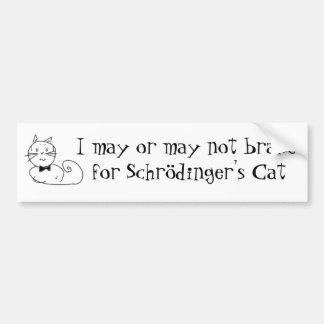 Schrödingers Katze Autoaufkleber