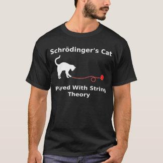 Schrödingers Katze gespielt mit Schnur-Theorie T-Shirt