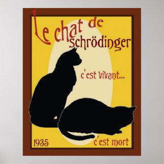 Schrodingers Katze Poster