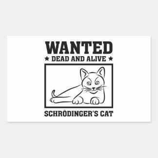 Schrodingers Katze Rechteckiger Aufkleber