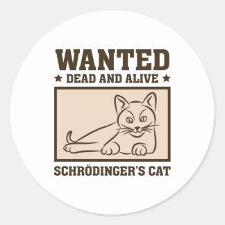 Schrodingers Katze Runder Aufkleber