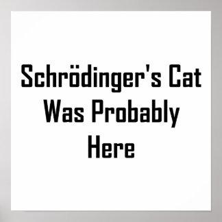 Schrodingers Katze war vermutlich hier Poster