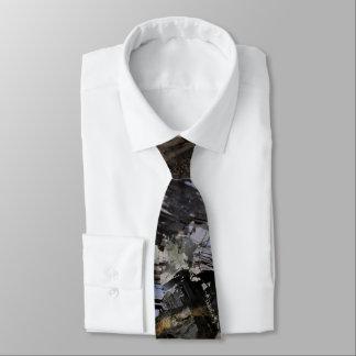 Schroffe Erdmännliche schwarze Krawatte