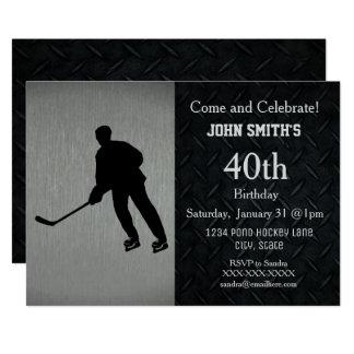 Schroffe Hockey-Geburtstags-Feier-Einladungen Karte