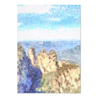 Schroffe und schöne Berge 12,7 X 17,8 Cm Einladungskarte