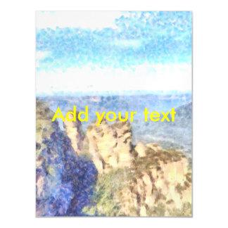 Schroffe und schöne Berge Magnetische Karte