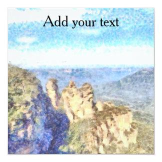 Schroffe und schöne Berge Quadratische 13,3 Cm Einladungskarte