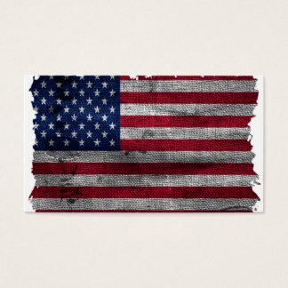 Schroffe USA-Flagge Visitenkarten