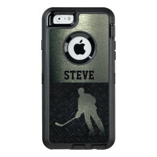 Schroffer Hockey-Namen-Diamant-Platten-Kasten OtterBox iPhone 6/6s Hülle