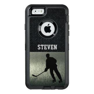 Schroffer Hockey-Silber-Diamant-Platten-Kasten OtterBox iPhone 6/6s Hülle