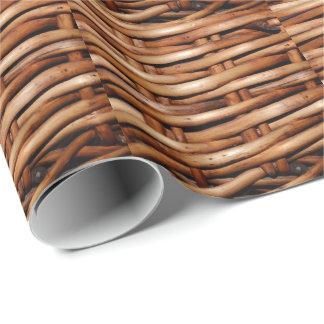 Schroffer Weidenkorb-Blick Geschenkpapier