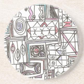 Schrullig-Wunderliches abstraktes geometrisches Untersetzer
