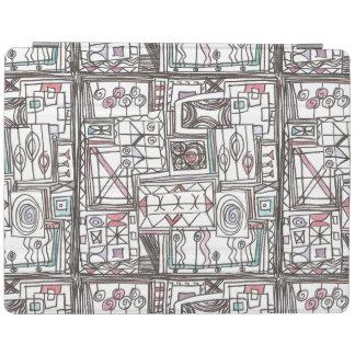 Schrullig-Wunderliches geometrisches Gekritzel iPad Hülle