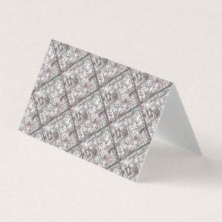 Schrullig-Wunderliches geometrisches Gekritzel Visitenkarten