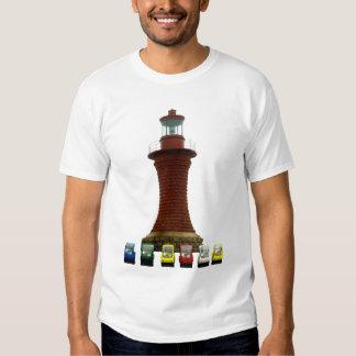 Schrullige Autos und Leuchtturm T-shirt