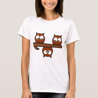 Schrullige Eulen T-Shirt