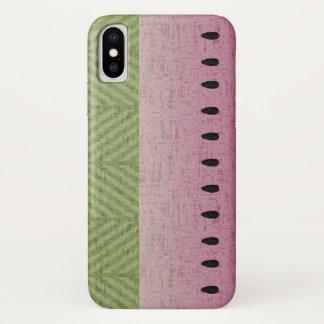 Schrullige Wassermelone kaum dort iPhone X Hülle