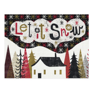 Schrullige Weihnachtskabine Postkarte