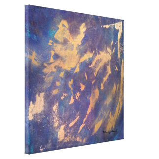 Schrulliger abstrakter   Spaß-lila blauer Leinwanddruck