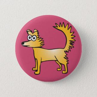Schrulliger gelber Hund Runder Button 5,1 Cm