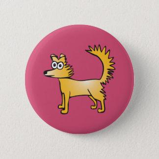 Schrulliger gelber Hund Runder Button 5,7 Cm