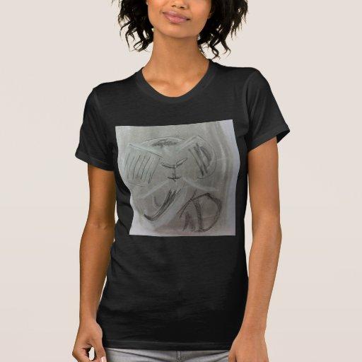 Schrulliger Holzkohlen-Elefant Tshirt