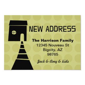 Schrulliger Spaß-neue Adressen-Avocado 12,7 X 17,8 Cm Einladungskarte