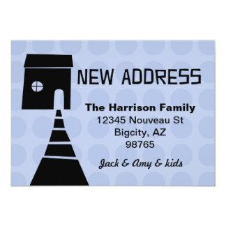 Schrulliger Spaß-neues Adressen-Blau 12,7 X 17,8 Cm Einladungskarte