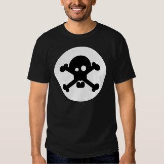 Schrulliger Todesschädel-Schwarz-T - Shirt