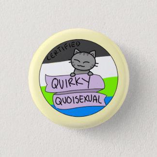 Schrulliges Quoisexual Runder Button 3,2 Cm