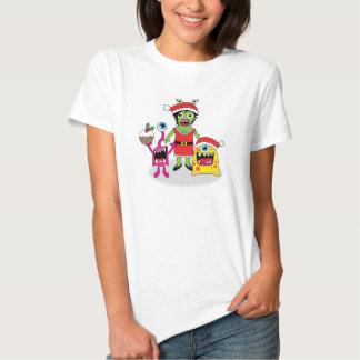 Schrulliges Weihnachtsmonster-T-Stück T-Shirts