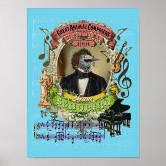 Schubert Parodie-Parodie Schubird lustiger Poster