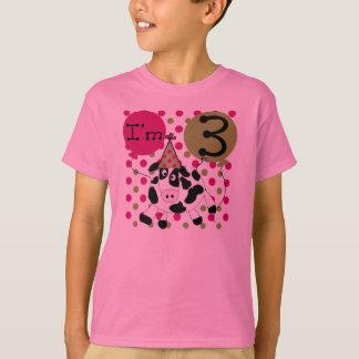 Schüchtern Sie 3. Geburtstag ein (Rosa) T-Shirt