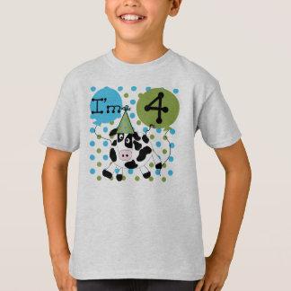 Schüchtern Sie 4. Geburtstag ein T-Shirt